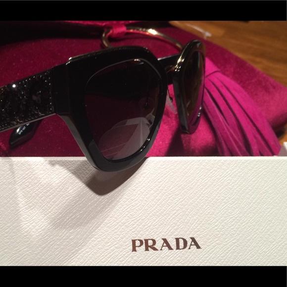 fe471d42b324 PRADA Bead-Embellished Sunglasses-100% Authentic
